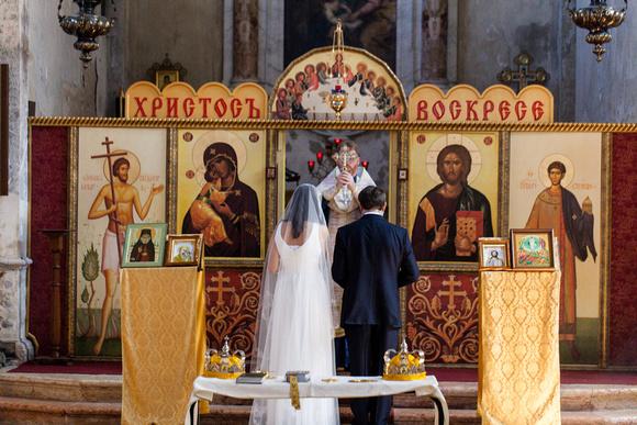 russian wedding in Venice