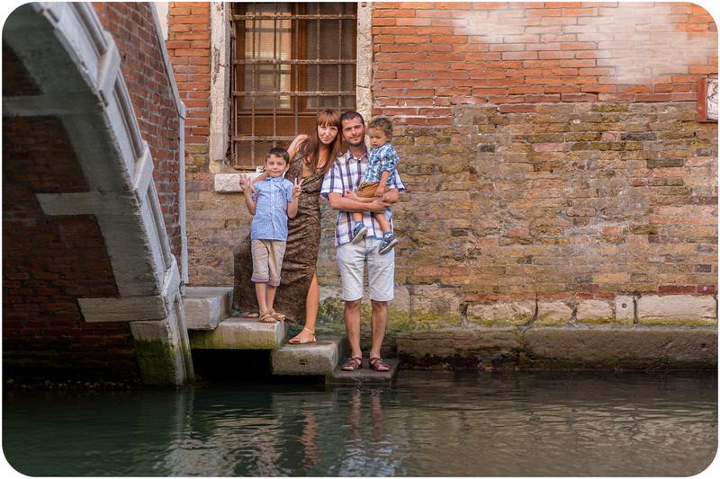 family portrait in Venice