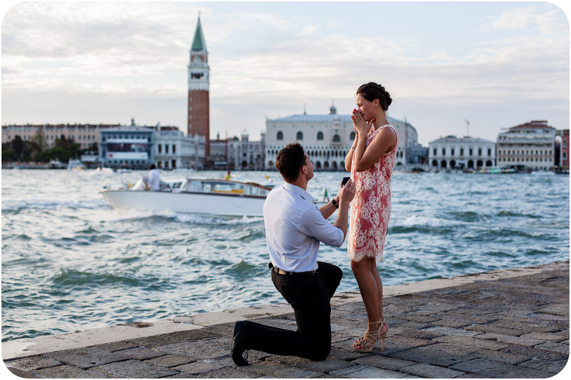 Luca Wedding Photographer In Venice Suprise Proposal In Venice
