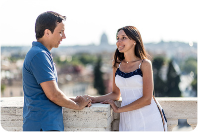 couple posing for photo portrait in Rome
