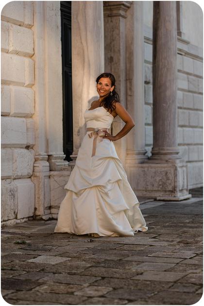 bride portrait during cherish the dress photo session in Venice