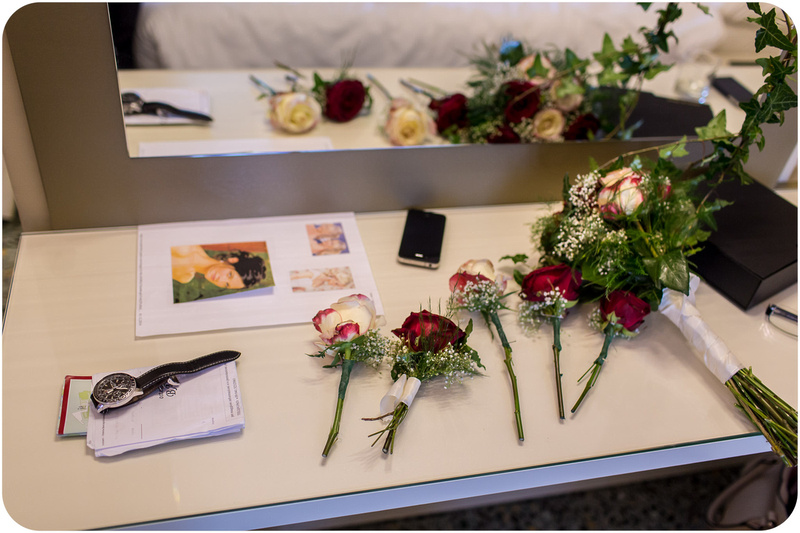 flowers for bride and groom at wedding photo service venice